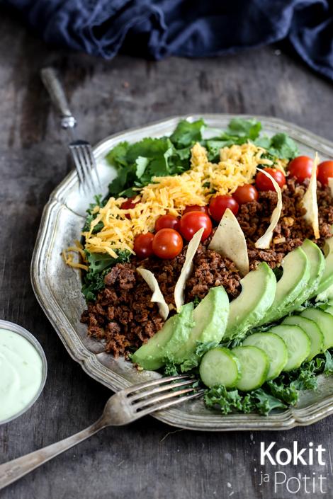 Tacosalaatti+taco+salad+vege