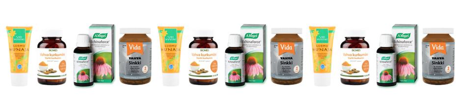flunssan torjuntaan Hyvinvoinnin tavaratalosta